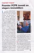 "Investir Magazine - Dossier ""capital risque"" - ""Premier FCPR investi en viagers immobiliers"" _t"